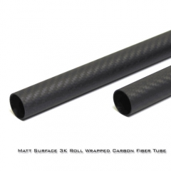 Matt Surface 14MM 3K Roll wrapped carbon fiber tube 12*14*500mm (2 PCS)