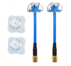 Aomway 5.8G 3DBi 4 Leaf Clover Antenna with Protection Cover 2 PCS (RHCP)