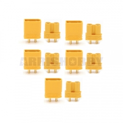 AMASS XT30U 2mm Gold Plated Female Male Connectors (5 Pairs)