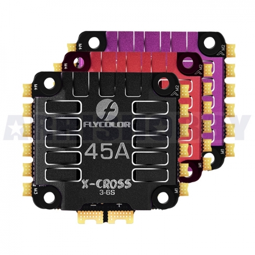Flycolor X-Cross 45A 3-6S BLHeli32 4in1 ESC for Racing Drones