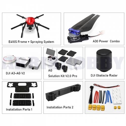 ARRIS E410S 4 Axis 10L Agriculture Sprayer Farm Drone DJI A3-AG Obstacle Radar AG Solution Package Combo