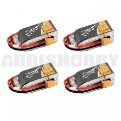 4 PCS Tattu 1550mAh 4S1P 14.8V 75C Lipo Battery Pack with XT60 plug