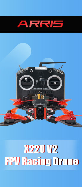 ARRIS X220 V2 FPV Racing Drone with Q X7 Radio