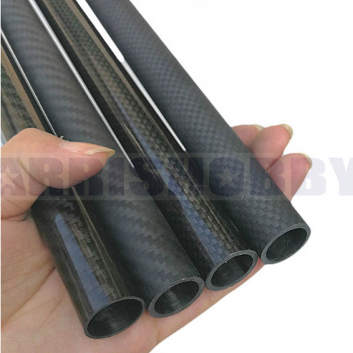 30mmx26mmx500mm 3K Roll Wrapped 100% Carbon Fiber 30mm Carbon Fiber Tube (2 PCS)