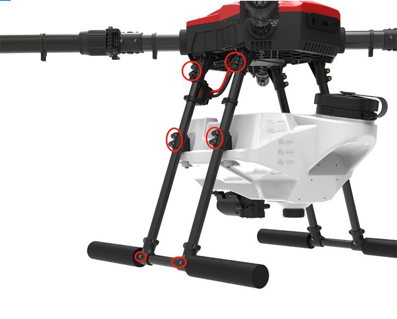 E410P Agriculture spraying drone