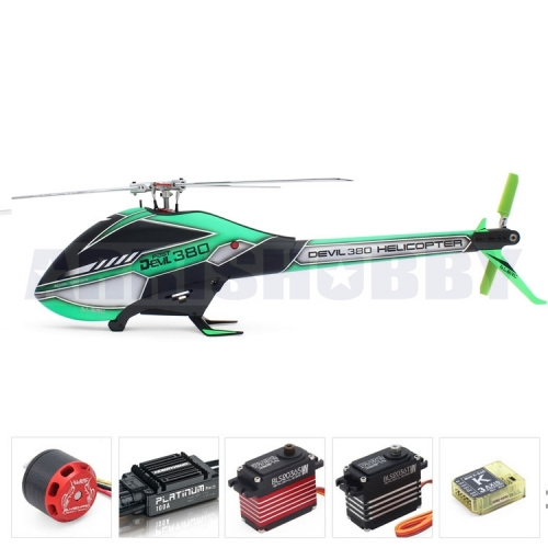 ALZRC Devil 380 3D 6CH FAST FBL RC Helicopter Combo
