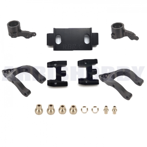 WPL D12 Upgrade Parts Metal Upper and Lower Swing Arm Steering Accessories