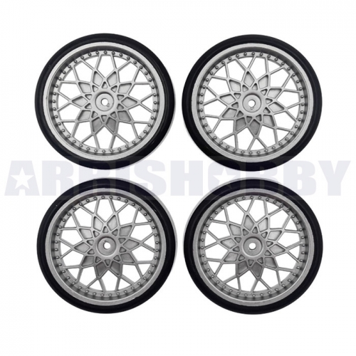WPL D12 Upgrade Parts Bald Tire for Drifting(4PCS)