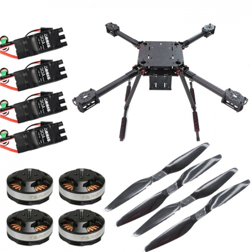 ZD550 Pro 550mm 4 Axis Carbon Fiber Umbrella Folding Quadcopter Combo with Motor ESC Propeller